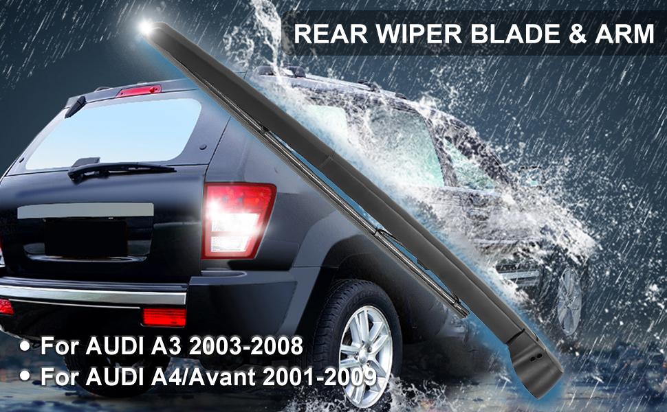 X AUTOHAUX 345mm 14 Car Rear Windshield Wiper Blade Arm Set for Skoda Fabia 15-20
