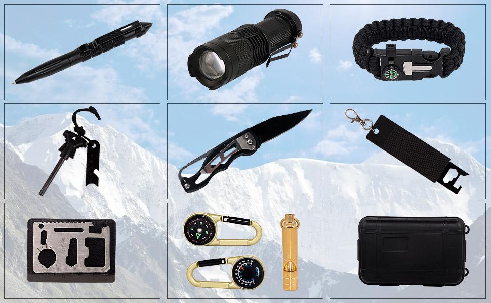 emergency survival gear kit