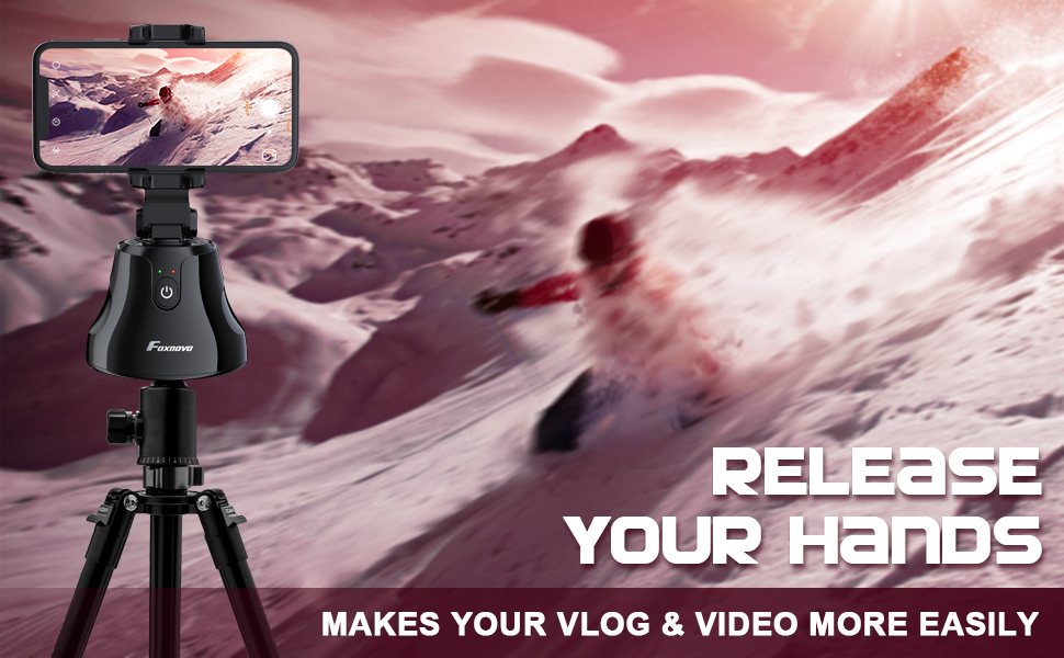 selfie stick 360 rotation auto face Tracking
