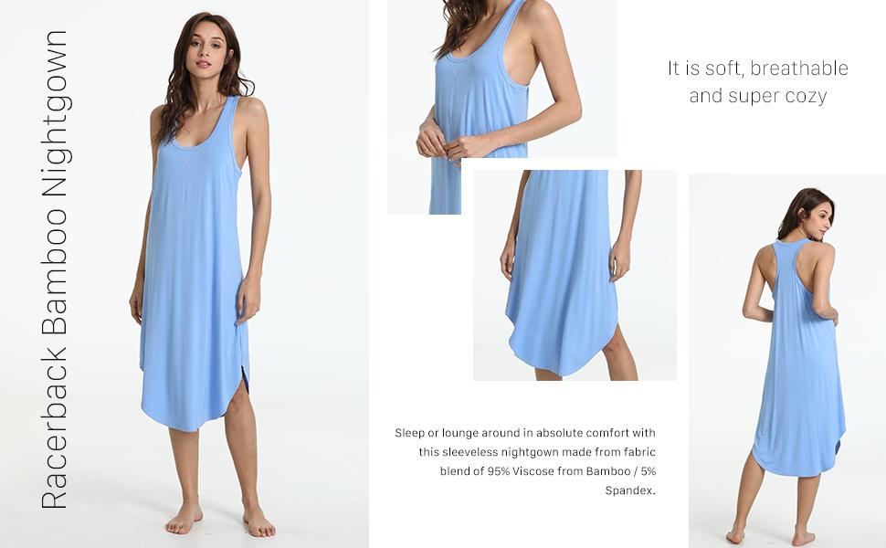 GYS Women's Racerback Bamboo Nightgown