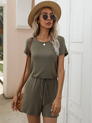 army green olive short jumpsuit rompers for summer