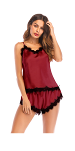 2 Piece Pajamas Sets Short  Lace Nightgown