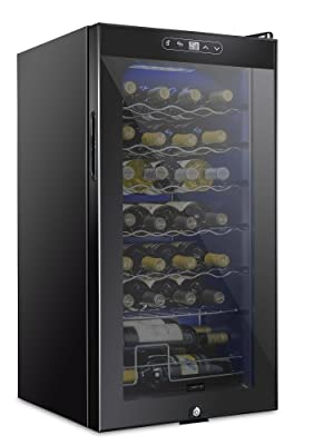 Schmecke 28 bottle wine cooler with lock