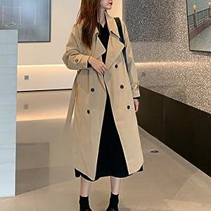 Tailored Leather Jacket Italian Collar Down Jacket Windbreaker Top A-Line Long Feminine Adult Korean Commute