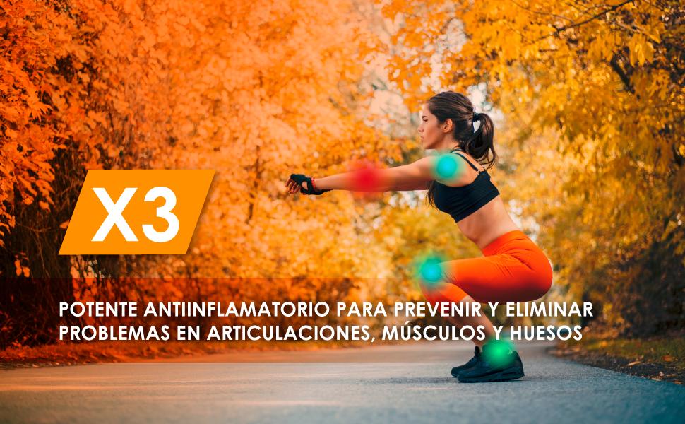 Cúrcuma con glucosamina, condroitina y colágeno | Elimina el dolor en músculos, articulaciones y huesos | Potente antiinflamatorio con acción ...