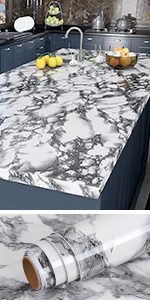 white marble contact paper