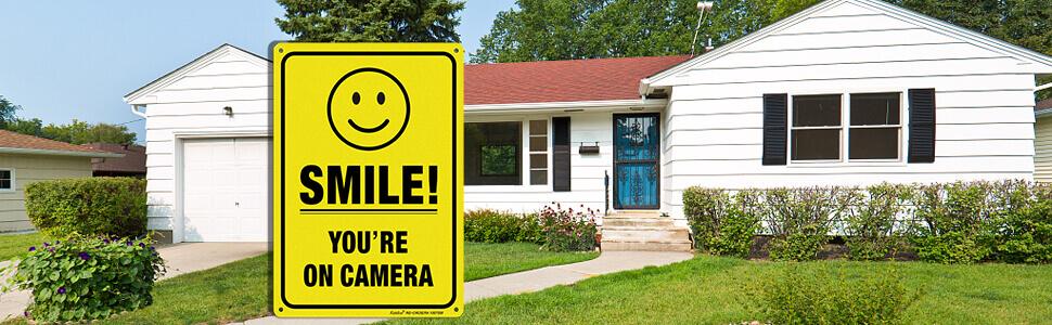 Faittoo You're On Camera Video Surveillance Sign, Warning Sign, Video Surveillance Sign