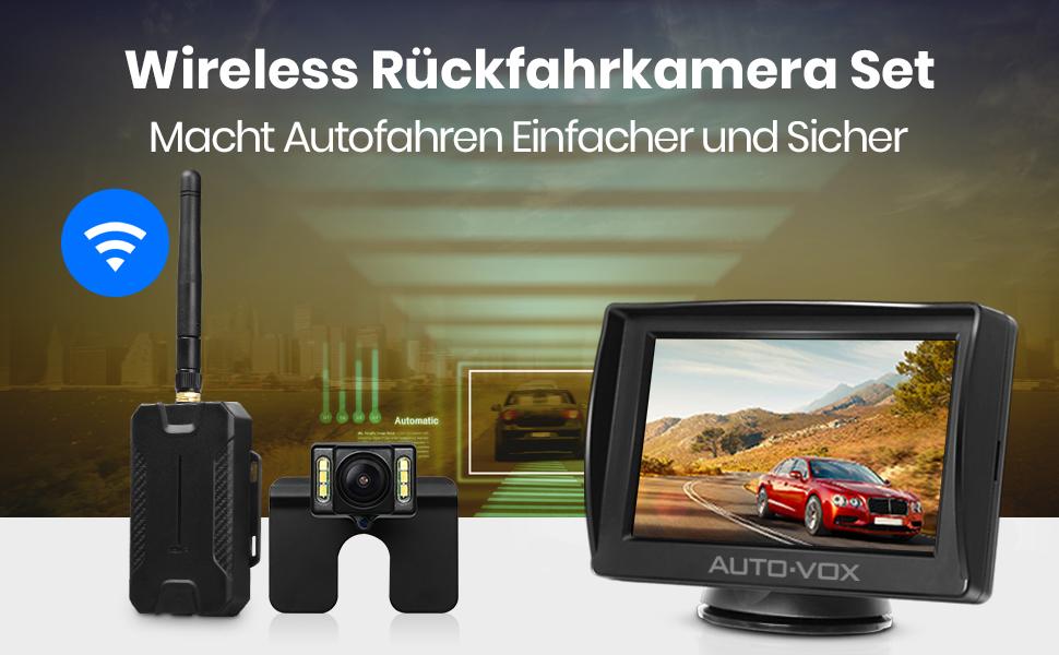 AUTO-VOX M1W Wireless Backup Kamera-Kit,Rückfahrkamera