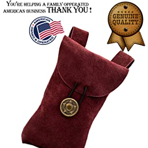 great service mythrojan suede leather genuine pouch medieval bag knight cosplay renfair