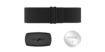 Magene H64 Heart Rate Monitor Chest Strap Fitness Tracker PU Inner Layer IP67 Waterproof/Support Bluetooth 4.0 and ANT+ iPhone /& Android Compatible