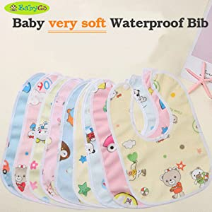 BabyGo Waterproof Babies Apron with Bib (Multicolour) – Set of 6