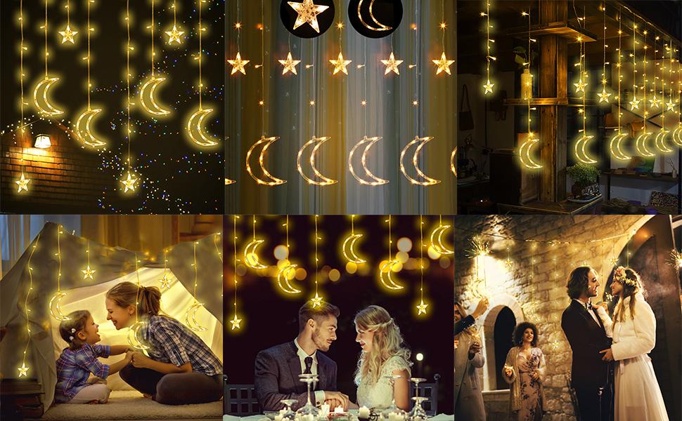 wedding decoration birthday string star lights