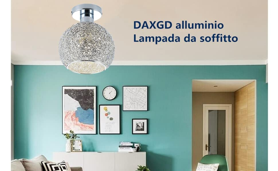 corridoio e soggiorno DAXGD alluminio Lampada da soffitto Mini Lampada da soffitto a guardaroba Diametro della luce di soffitto: 15cm