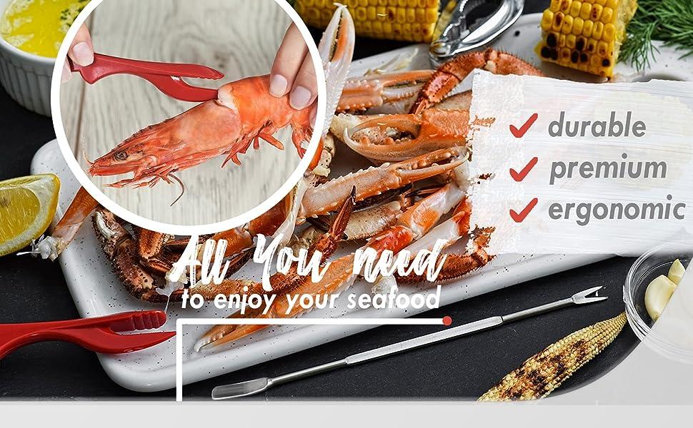 tools for seafood, seafood tools gift, seafood opener tool set, seafood tools gift set, best cracker