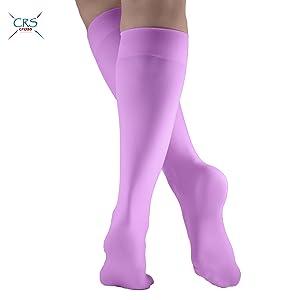 light pink socks pantyhose nylon knee highs