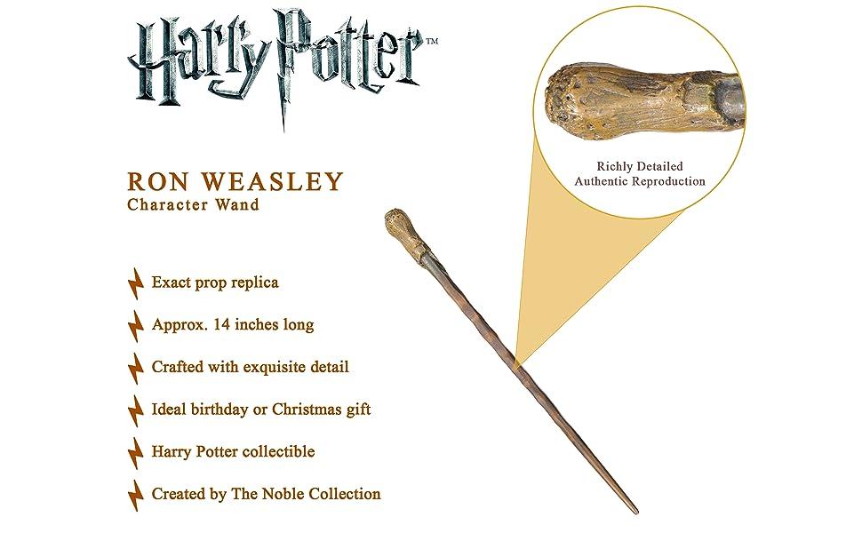 La Noble colección Ron Weasley Character Wand