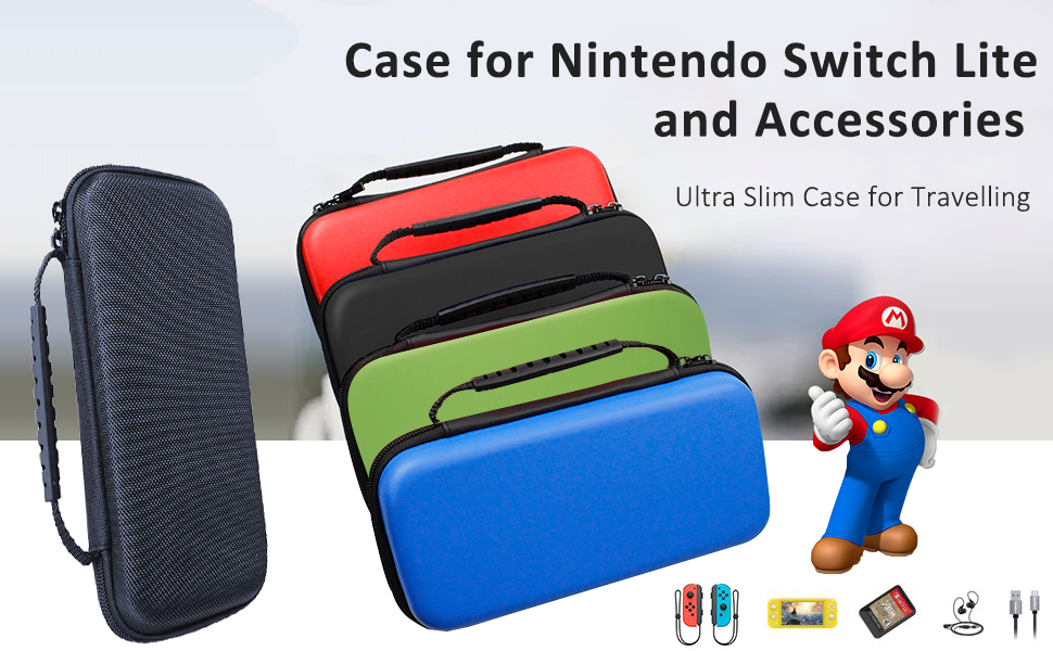 carrying case for Nintendo Switch Lite,PU travel case for Nintendo Switch lite,Switch lite storage
