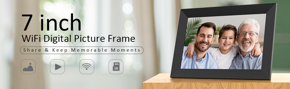 digital photo frame wifi