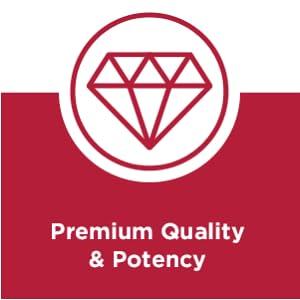 Premium quality and potency