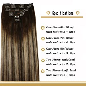 120g clip in hair extensions