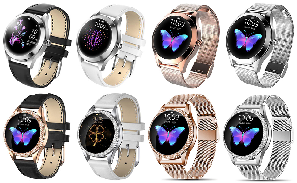 Smart Watches for iPhones IOS Android Smartwatch IP68 Waterproof Fitness Tackers Bluetooth Bracelet