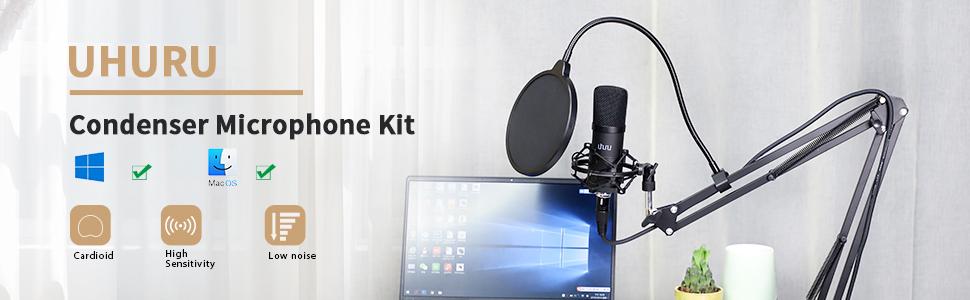 UHURU XLR Condenser Microphone Kit