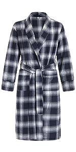 cotton plaid robe