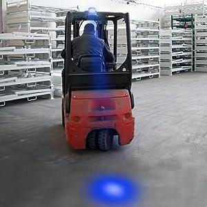 LED Forklift Safety Light Blue