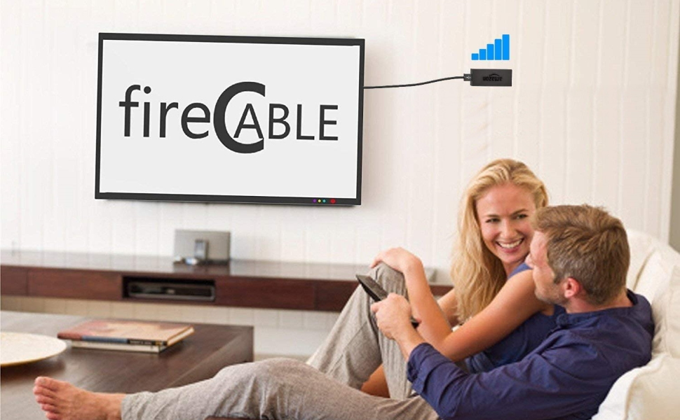 firecable hdmi extender displaying improved internet speed