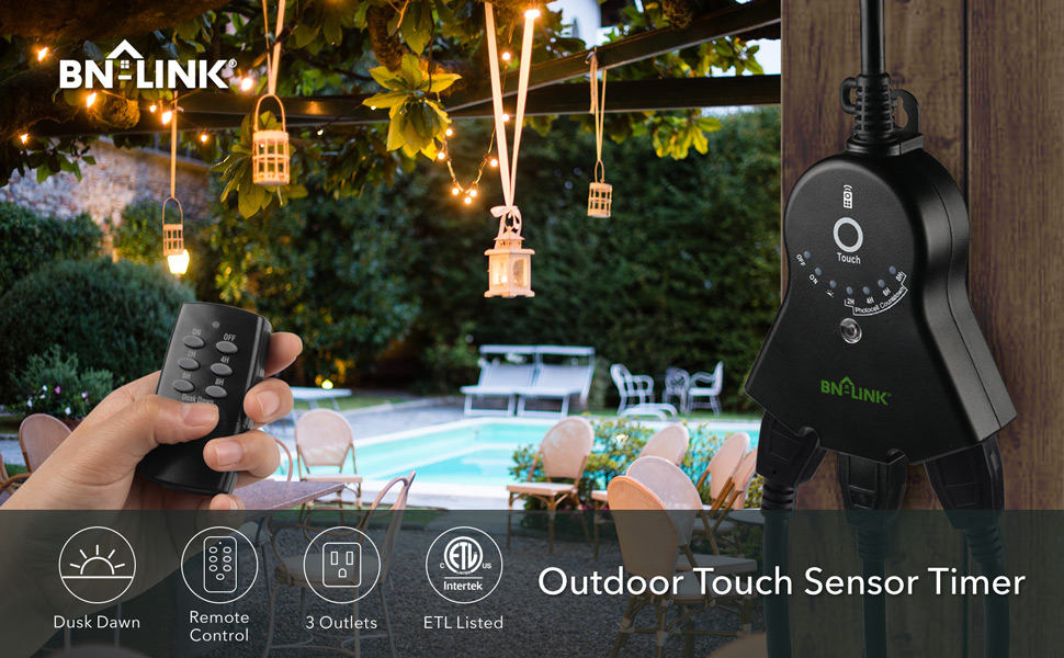 outdoor photocell timer outlet