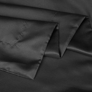 black satin pillow shams