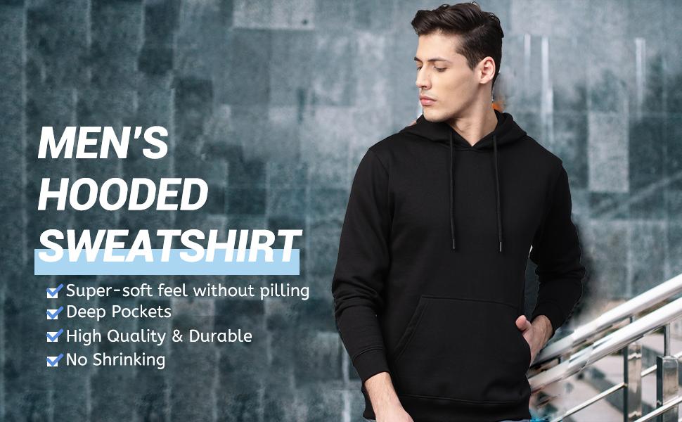 COOFANDY Men's Hoodies Sweatshirts Casual Lightweight Long Sleeves Pullovers