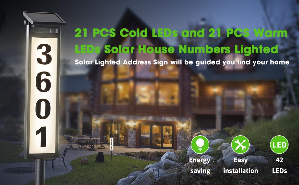 solar address sign