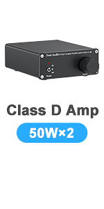 Stereo Audio 2 Channel Amplifier Receiver Mini Hi-Fi Class D Integrated Amp Home Speakers