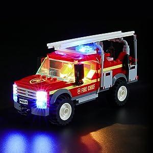 LIGHTAILING Conjunto de Luces (City Camión de Intervenciónde la Jefa de Bomberos)  Modelo de Construcción de Bloques - Kit de luz LED Compatible con Lego 60231 (NO Incluido en el Modelo):