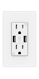 smart power wall plug outlet with usb
