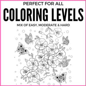 coloring image showing mix of coloring levels