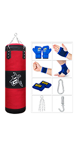 Red boxing bag for kids