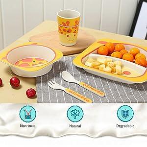 jstor, thejstor, jline, jlineoverseas, jstore, baby plates, dinnerware set, lion plate, bamboo fiber