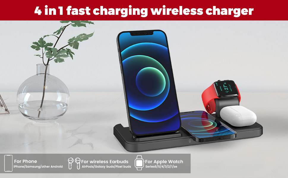 4 in 1 fast charging wireless charger