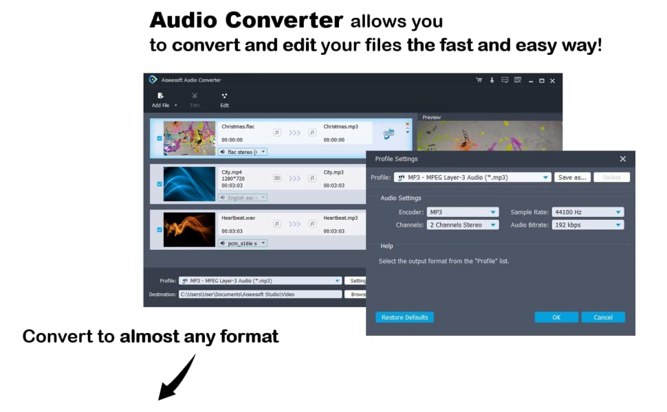 audio converter allows you to convert and edit the fast any easy way almost any format