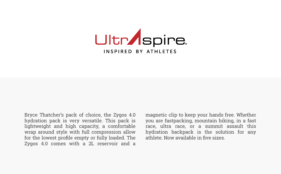 ultraspire zygos 4.0 hydration vest running info