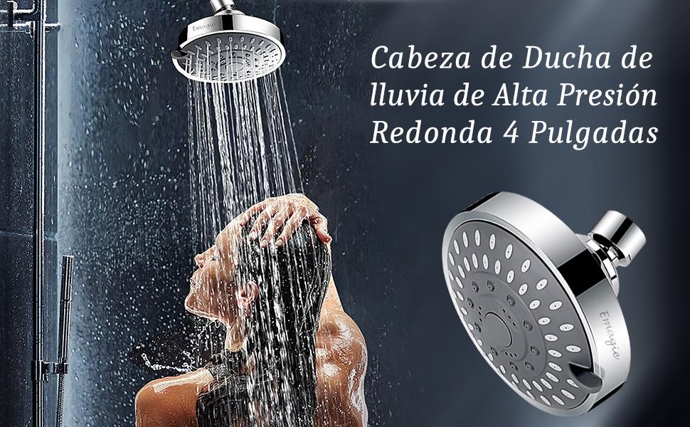 Alcachofa Ducha de Baño Fija Para Baja y Alta Presión Redonda