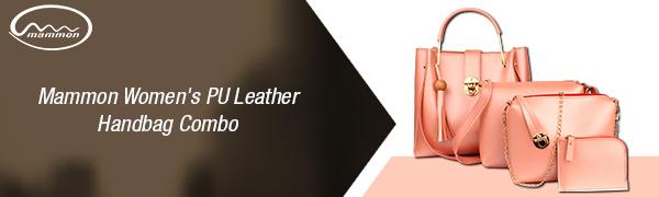mammon women's pu leather handbag