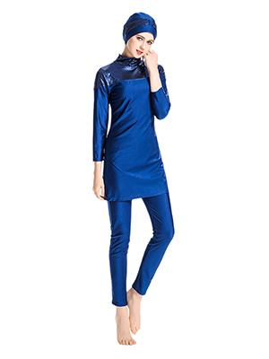 besbomig Musulmán Traje de Baño Completo para Mujeres - Modesto Islámico Bañador Ropa de Playa Swimwear Burkini Hijab 3 Pieza Traje de Surf Nadar ...