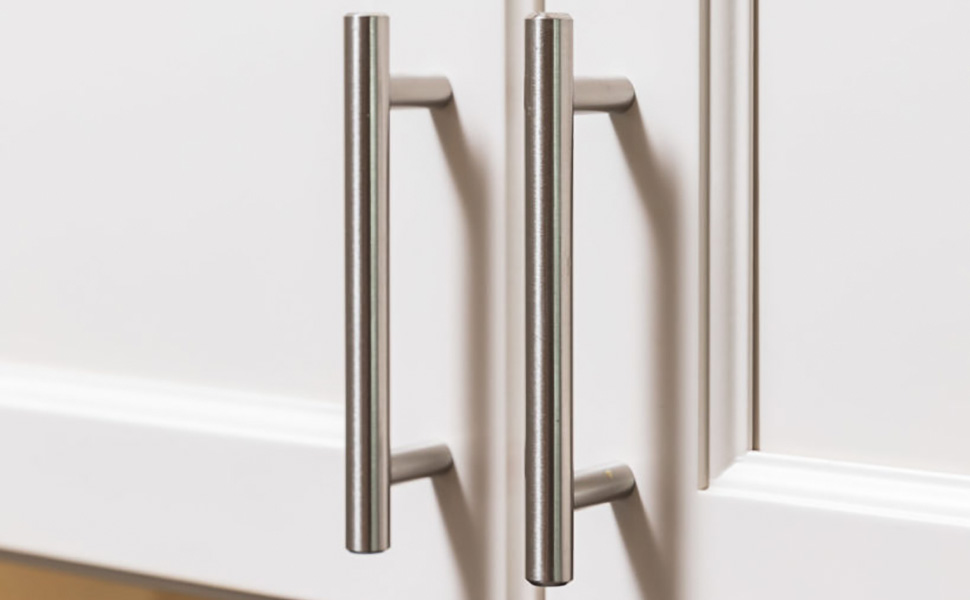 3 inch(76mm) silver cabinet handles brushed nickel