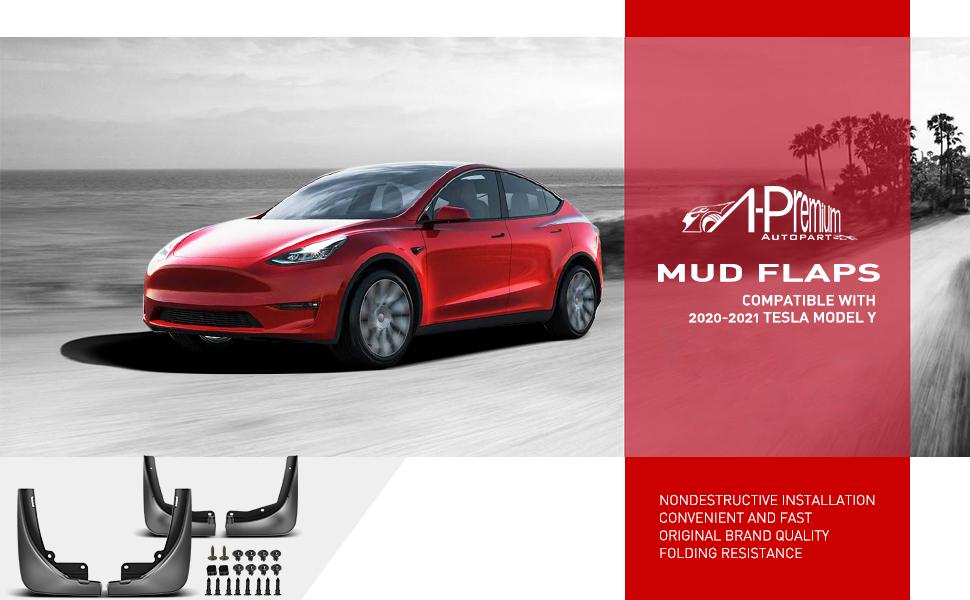 for Tesla Model Y Mud Flaps