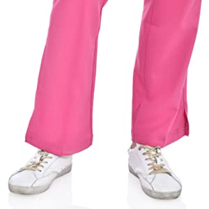 close up of slit ankle cuffs on MediChic Marilyn Monroe MM1301 women's scrub pant