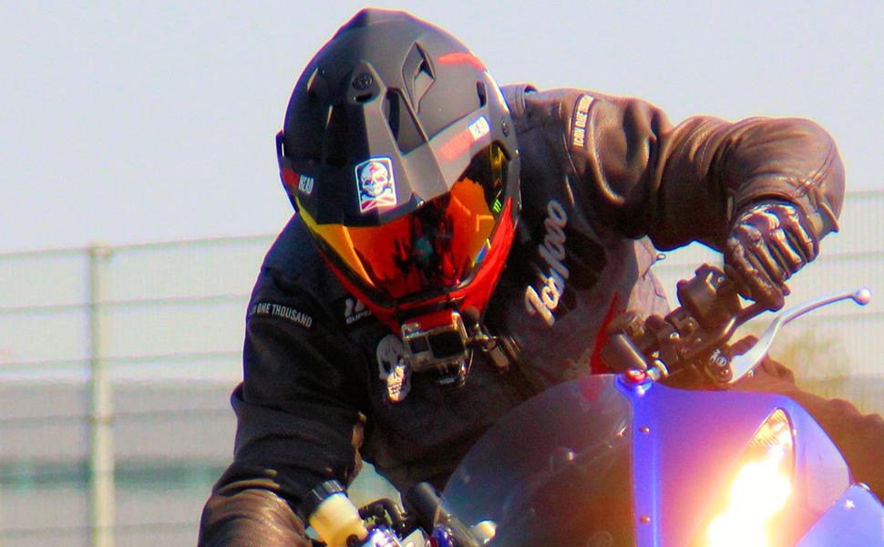 Broken Head Street Rebel Cross Helm Rot Mit Visier Enduro Helm Mx Motocross Helm Mit Sonnenblende Quad Helm S 55 56 Cm Auto