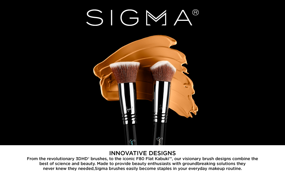 Sigma with brushes with makeup